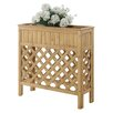 Patio Fir Wood Raised Garden - Size: 36 inch High x 36 inch Wide x 13 inch Deep - Finish: Light Oak - Convenience Concepts Planters