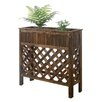 Patio Fir Wood Raised Garden - Size: 36 inch High x 36 inch Wide x 13 inch Deep - Finish: Weathered Cedar - Convenience Concepts Planters