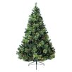 Jolly Workshop 7' Green Charlotte Pine Artificial Tree with 600 Clear Lights and Metal Stand