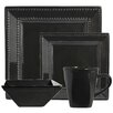 Ten Strawberry Street Nova Square Beaded 16 Piece Dinnerware Set