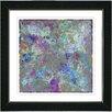 "Studio Works Modern ""Blue Nova"" by Zhee Singer Framed Fine Art Giclee Painting Print"