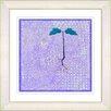 "Studio Works Modern ""Six Steps Off the Ground - Purple"" by Zhee Singer Framed Graphic Art in Purple"