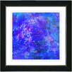 "Studio Works Modern ""Blue Yonder"" by Zhee Singer Framed Fine Art Giclee Painting Print"