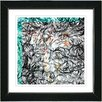 """Studio Works Modern """"Turquoise Dance Moves"""" by Zhee Singer Framed Graphic Art in Blue"""