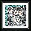 "Studio Works Modern ""Turquoise Dance Moves"" by Zhee Singer Framed Fine Art Giclee Painting Print"