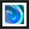 "Studio Works Modern ""Aqua Blue Crush"" by Zhee Singer Framed Fine Art Giclee Painting Print"