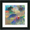 """Studio Works Modern """"Abstract Flamingos"""" by Zhee Singer Framed Fine Art Giclee Painting Print"""
