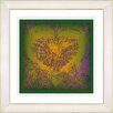 "Studio Works Modern ""Gold Filigree Heart"" by Zhee Singer Framed Fine Art Giclee Painting Print"