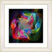 """Studio Works Modern """"Voice of Odin - Red Green"""" by Zhee Singer Framed Fine Art Giclee Painting Print"""