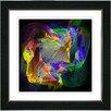 "Studio Works Modern ""Voice of Odin - Orange Purple"" by Zhee Singer Framed Fine Art Giclee Painting Print"