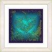 "Studio Works Modern ""Filigree Heart - Turquoise"" by Zhee Singer Framed Graphic Art in Green"
