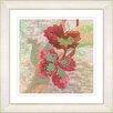 """Studio Works Modern """"Sophia Flower - Red"""" by Zhee Singer Framed Graphic Art"""