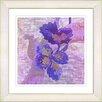 "Studio Works Modern ""Sophia Flower - Purple"" by Zhee Singer Framed Fine Art Giclee Painting Print"
