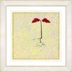 """Studio Works Modern """"Six Steps Off the Ground - Yellow"""" by Zhee Singer Framed Fine Art Giclee Painting Print"""
