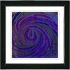 "Studio Works Modern ""Hybrid Histor - Purple Blue"" by Zhee Singer Framed Fine Art Giclee Painting Print"