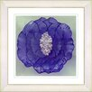 "Studio Works Modern ""Crystal Flower - Purple"" by Zhee Singer Framed Painting Print"