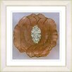 "Studio Works Modern ""Crystal Flower - Gold"" by Zhee Singer Framed Painting Print"