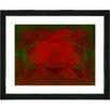 "Studio Works Modern ""Double Rose"" by Zhee Singer Framed Painting Print"