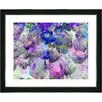 "Studio Works Modern ""Nasturtiums - Blue"" by Zhee Singer Framed Graphic Art in Purple"