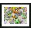 "Studio Works Modern ""Nasturtiums - Green"" by Zhee Singer Framed Fine Art Giclee Painting Print"