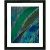 "Studio Works Modern ""Cinnabar - Aqua"" by Zhee Singer Framed Fine Art Giclee Painting Print"