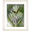 "Studio Works Modern ""Harvest Floral - Green"" by Zhee Singer Framed Fine Art Giclee Painting Print"
