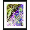 "Studio Works Modern ""Right as Rain - Purple"" by Zhee Singer Framed Fine Art Giclee Painting Print"