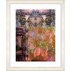 "Studio Works Modern ""Bustle - Orange"" by Zhee Singer Framed Fine Art Giclee Painting Print"