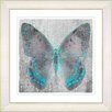 "Studio Works Modern ""Dusk Butterfly - Turquoise"" by Zhee Singer Framed Fine Art Giclee Painting Print"