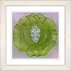 "Studio Works Modern ""Crystal Flower - Green"" by Zhee Singer Framed Fine Art Giclee Painting Print"