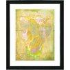 "Studio Works Modern ""Yellow Dansing Bud - Spring"" by Zhee Singer Framed Painting Print"