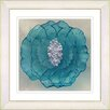 Studio Works Modern 'Crystal Flower - Turquoise' by Zhee Singer Framed Painting Print
