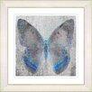 "Studio Works Modern ""Dusk Butterfly - Blue"" by Zhee Singer Framed Fine Art Giclee Painting Print"