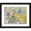 "Studio Works Modern ""Rococo Peacock - Rose"" by Zhee Singer Framed Graphic Art in Blue"