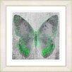 "Studio Works Modern ""Dusk Butterfly - Green"" by Zhee Singer Framed Fine Art Giclee Painting Print"