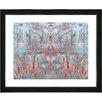 "Studio Works Modern ""Summer Land - Orange"" by Zhee Singer Framed Fine Art Giclee Painting Print"
