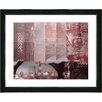 "Studio Works Modern ""Urban Puzzle - Red"" by Zhee Singer Framed Fine Art Giclee Painting Print"