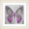 "Studio Works Modern ""Dusk Butterfly - Pink"" by Zhee Singer Framed Graphic Art in Pink"