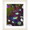 "Studio Works Modern ""Dark Plyos - Pink"" by Zhee Singer Framed Fine Art Giclee Painting Print"