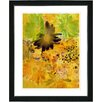 "Studio Works Modern ""Yellow Daisy Cups - Mocca"" by Zhee Singer Framed Fine Art Giclee Painting Print"