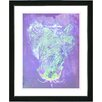 "Studio Works Modern ""Blue Dansing Bud - Purple"" by Zhee Singer Framed Fine Art Giclee Painting Print"