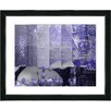 """Studio Works Modern """"Urban Puzzle - Blue"""" by Zhee Singer Framed Fine Art Giclee Painting Print"""
