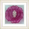 "Studio Works Modern ""Crystal Flower - Red"" by Zhee Singer Framed Fine Art Giclee Painting Print"