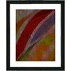 "Studio Works Modern ""Cinnabar - Red"" by Zhee Singer Framed Graphic Art in Red"