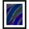 "Studio Works Modern ""Cinnabar - Blue"" by Zhee Singer Framed Fine Art Giclee Painting Print"