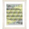 "Studio Works Modern ""Pastel Placidus - Yellow"" by Zhee Singer Framed Fine Art Giclee Painting Print"