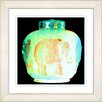Studio Works Modern Alabaster Green Elephant Urn by StudioWorksModern Framed Graphic Art