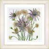 Studio Works Modern Highland Spring Flowers by Zhee Singer Framed Painting Print in Yellow