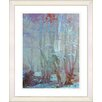 Studio Works Modern Spring 'Forest' by Zhee SInger Framed Painting Print in Blue/Brown