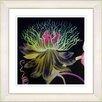 Studio Works Modern Black Bonobo Bell Flower by StudioWorksModern Framed Painting Print in Olive Green